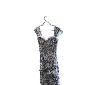 Dolce and Gabbana Leopard Print Corset Dress