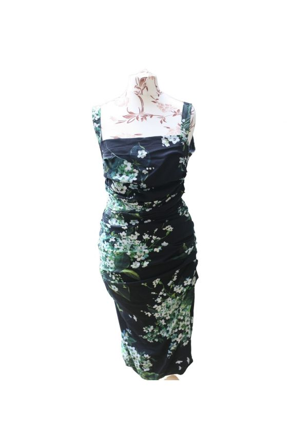 Dolce and Gabbana Floral Ruched Second-Hand Dress