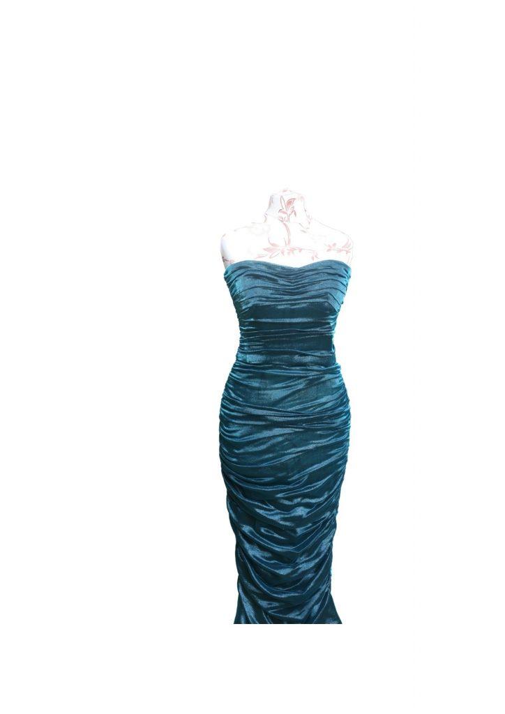 Dolce and Gabbana Petrol Blue Longuette Dress