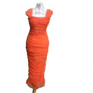 Calf length designer dress by Dolce and Gabbana
