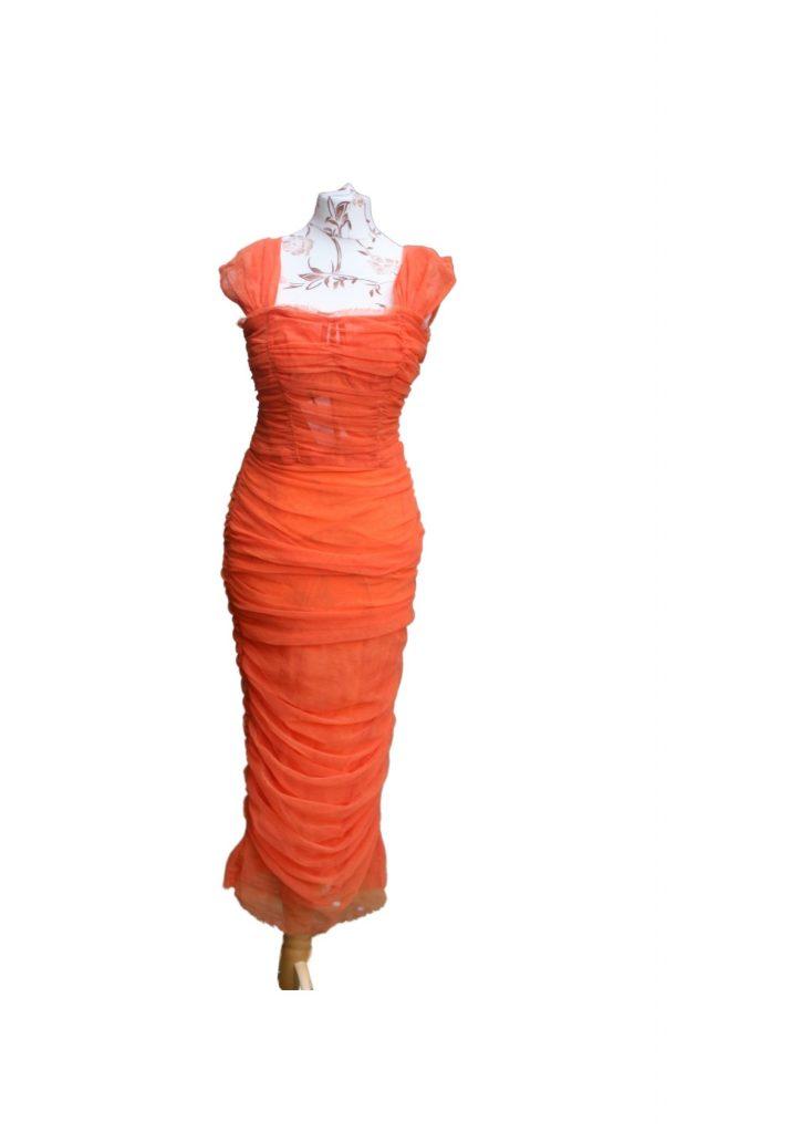 Dolce and Gabbana Orange Tulle Dress
