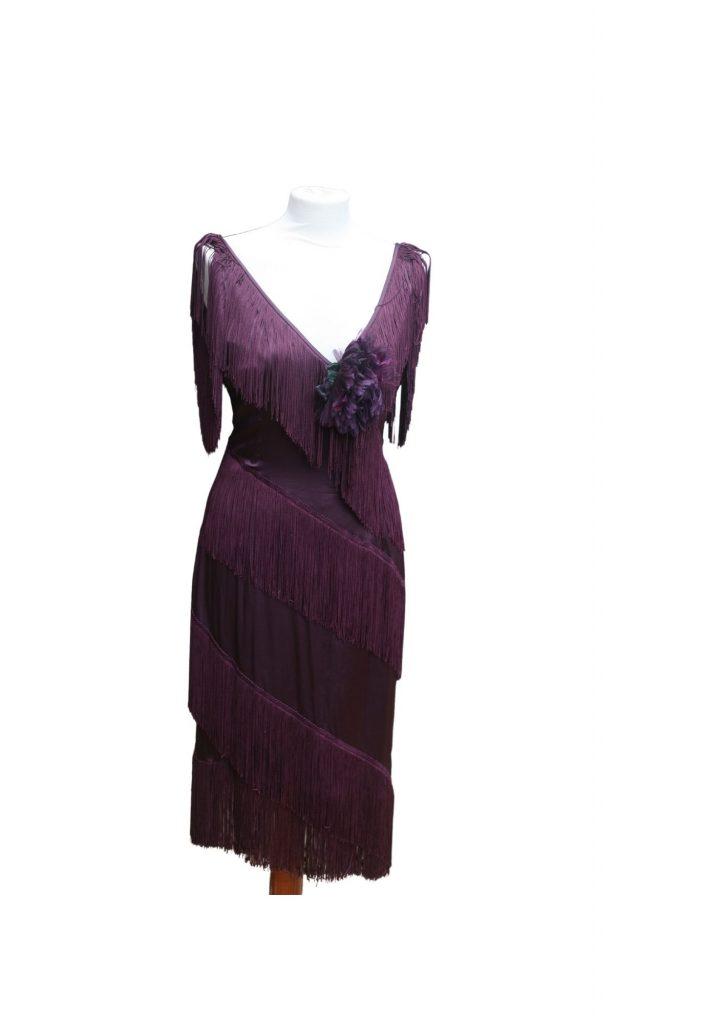 Wine Flapper Dress