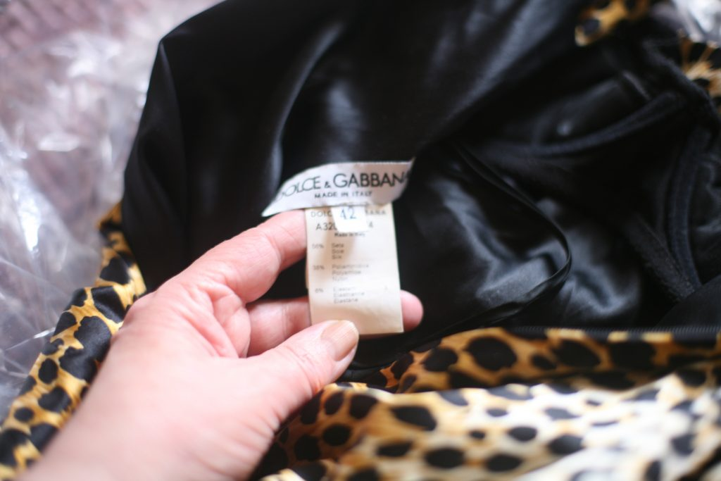 Fabric and Size Label