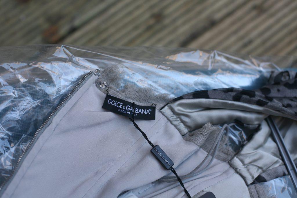 Ruched Leopard Dress Label