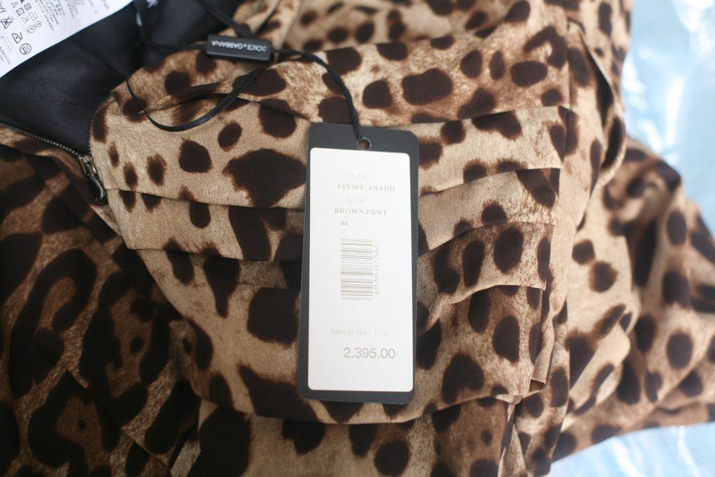 Label Brown Leopard Print Dress