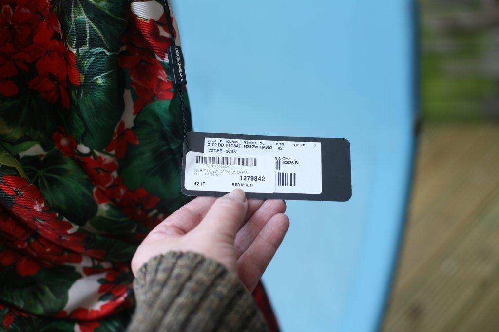 Label Fringed Dress