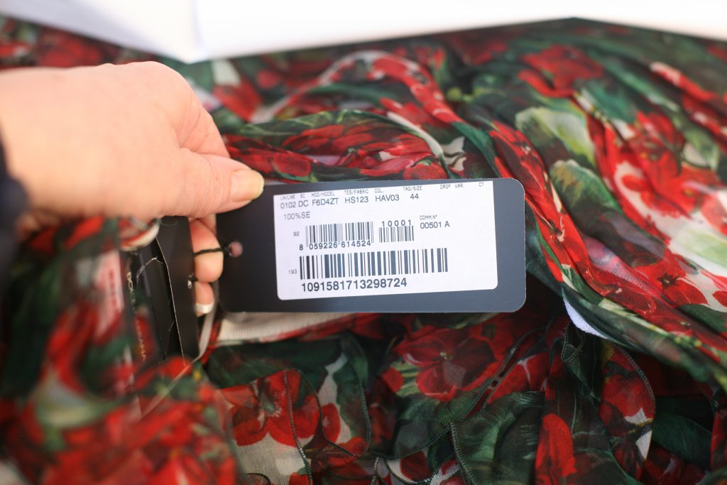 Tag For Dolce and Gabbana Geranium Gown