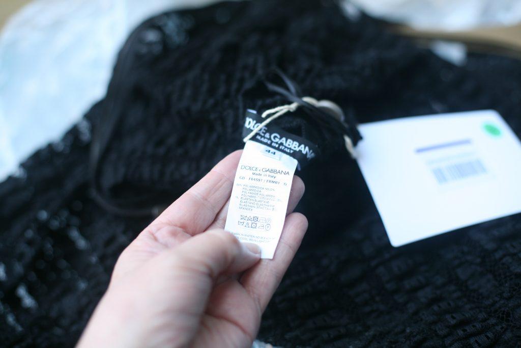 Fabric Label Lace Dress