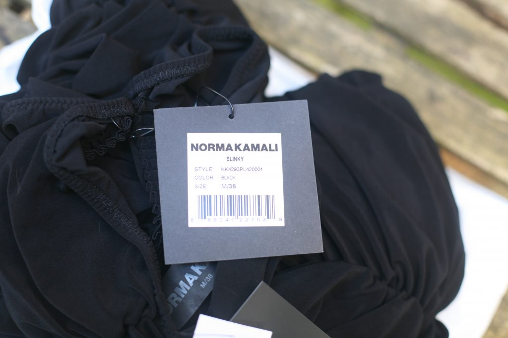 Tag For Norma Kamali Black Dress