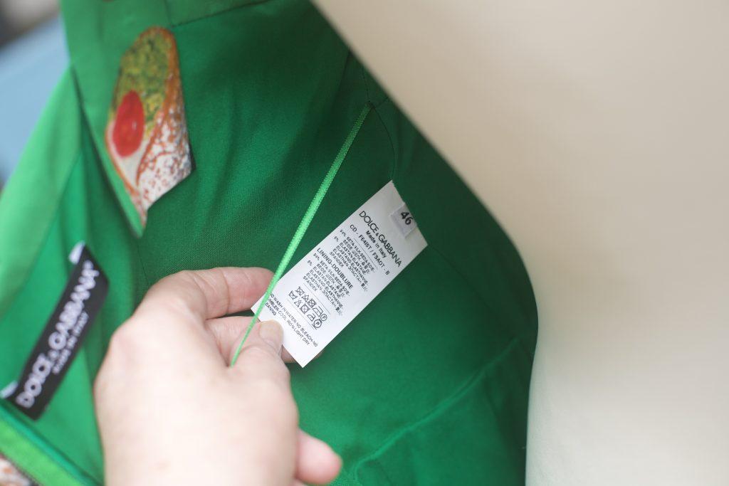 Fabric Label for Cannoli Dress